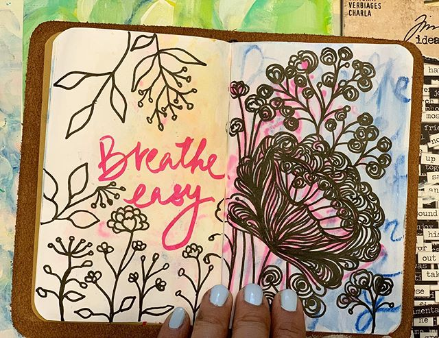 Breathe easy...when the knots and tangles of the day tug at you...focus on your breath...untangle...