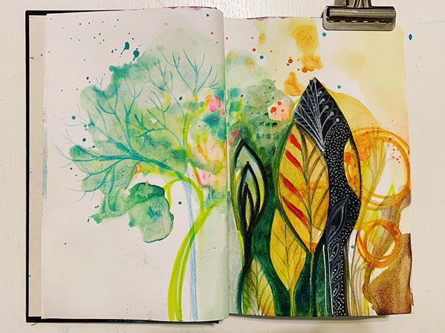 Exploring new styles and ideas in my new journal...