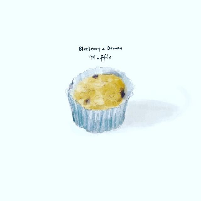 Blueberry + Banana Muffin