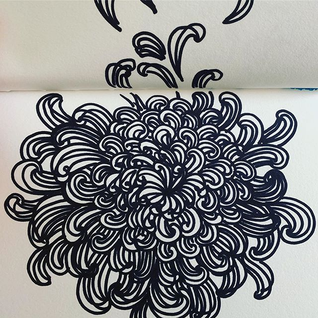 Good old sharpie! Can't seem to stop doodling!