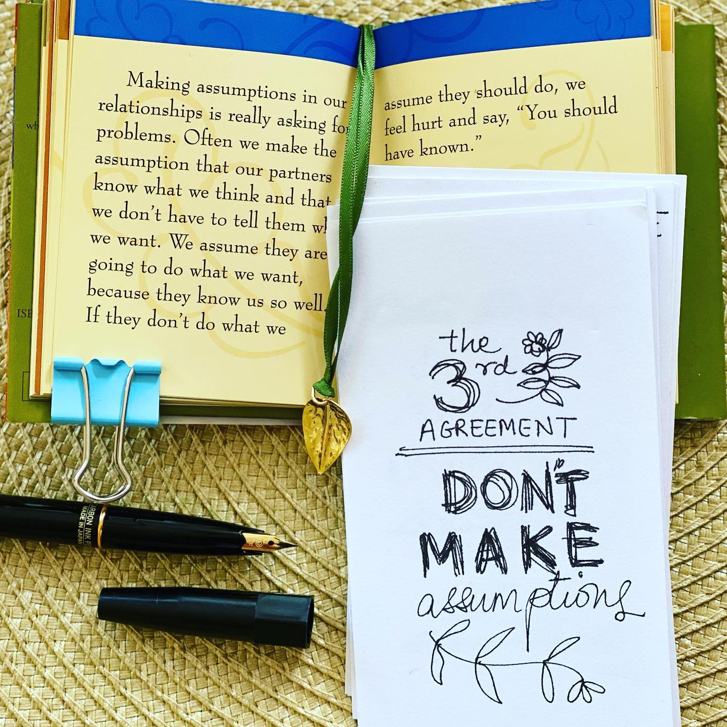 This tiny book of wisdom of the 'Four Agreements' by Don Miguel Ruiz is so full of deep insights that always serve as a ready reckoner!