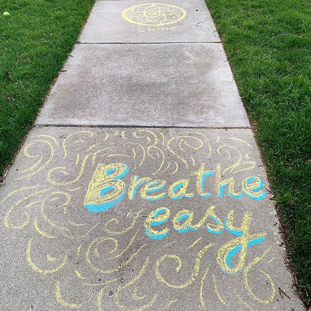 Time to take out those chalks and write something positive on your sidewalks! What say?